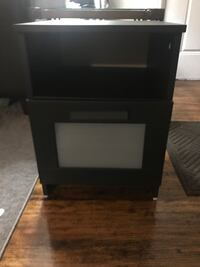 black wooden 2-drawer nightstand 825 mi