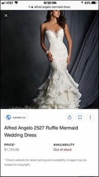 Alfred Angelo wedding gown  Huber Heights, 45424