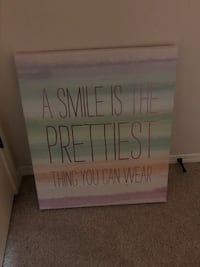 """A SMILE IS THE PRETTIEST THING YOU CAN WEAR"" Painting"