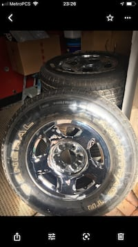 4 Tires 255/70 R17 and rims Cottonwood Heights, 84121