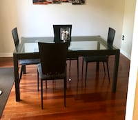 Glass Top Dining Table With Four Chairs District Heights, 20747