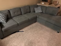 gray fabric sectional sofa with throw pillows North Las Vegas, 89081