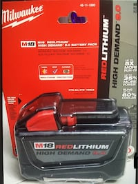 MIlWAUKEE  Battery Red Lithium XC 9.0  New Brand   Batería Nueva   Los Angeles, 91343