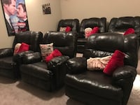 Dark brown leather recliners (only 2 left!) Mansfield, 76063