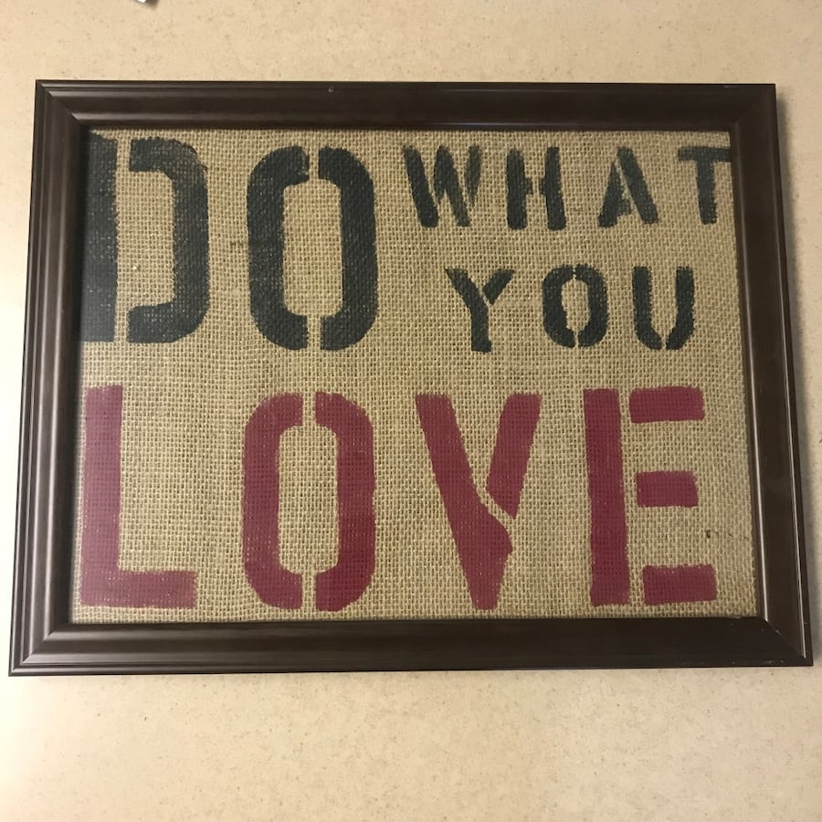 """Do What You Love"" framed canvas print"
