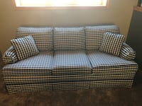 Blue and white plaid sofa Sioux Falls, 57103