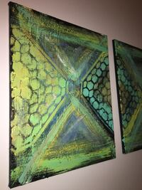 green and brown abstract painting Maplewood, 55117