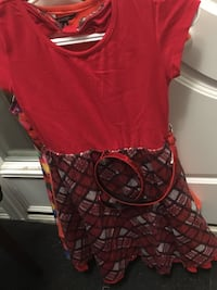 Red and silver scoop-neck sleeveless dress Ottawa, K2M 0L7