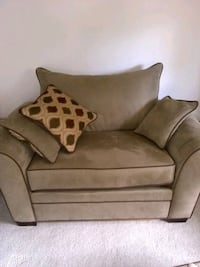 brown suede 2-seat sofa Roanoke