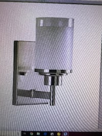Alexa Wall mount light w/White Linen Glass in Brushed Nickel New York