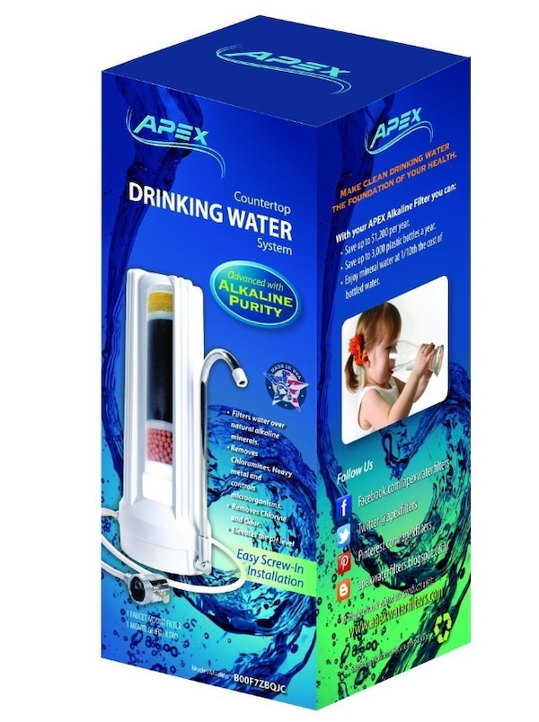 Apex countertop 5-stage alkalizing/alkaline drinking water filter 10aeabb4-b3d3-410e-88fb-90ea657a996b