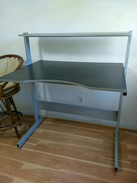 Height adjustable desk and chair