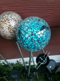 Glass solar decorative Garden lights six in total Surrey, V3R 1B6