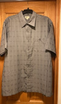 Men's large short sleeve Haggar dress shirt