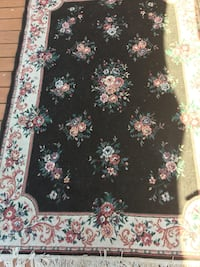 black and pink floral area rug Milton, L9T 3Z3