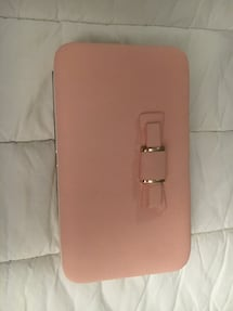 Brand new pink wallet with phone holder