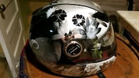 white and black floral full-face motorcycle helmet Manville, 08835