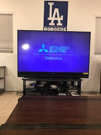 90 inch hdmi 1080p tv and stand with blue ray player Rancho Cucamonga, 91730