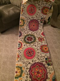 red and white floral area rug Canastota, 13032