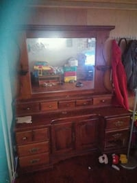 brown wooden dresser with mirror Quinte West, K8V 3A1