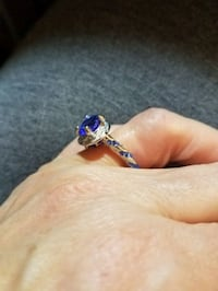 Silver and Sapphire Ring Aurora, 80013