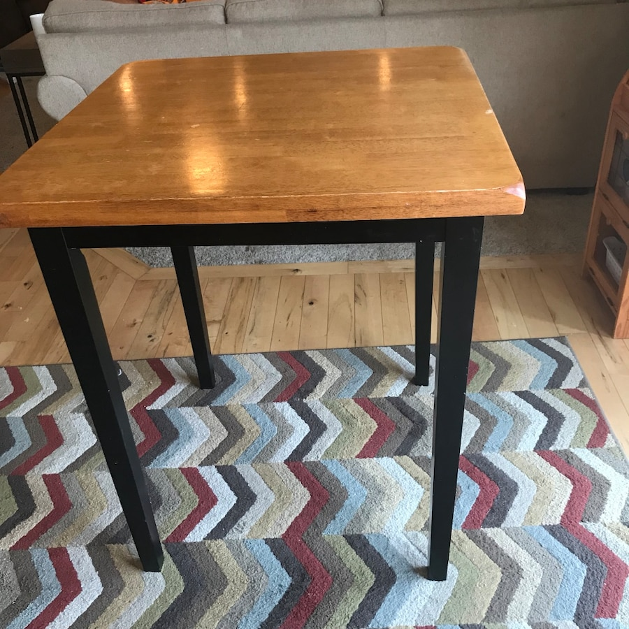 used square bar height table with no stools for sale in buckley letgo rh us letgo com