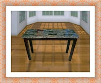 rectangular brown and black wooden coffee table McLean
