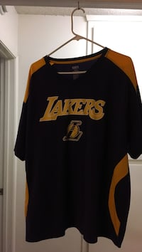 black and yellow Los Angeles Lakers crew-neck t-shirt Arroyo Grande, 93420
