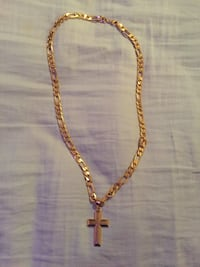 Gold Necklace with cross pendant