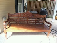 Gorgeous Carved antique bench Rockville