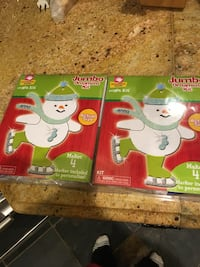 Snowman Christmas ornaments kit for homemade ornaments great kids craft idea makes 8 St Paul