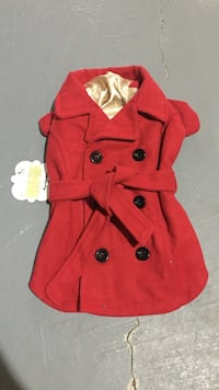 red double breasted trench coat Markham, L6C 0J2