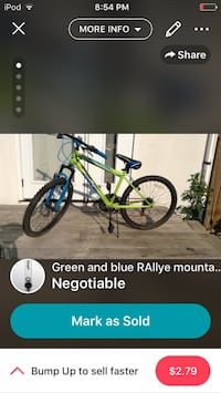 green and blue Rallye kids mountain bike Winnipeg, R2J 0T8