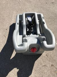 Gray portable car seat base. $20 Norfolk, 23504