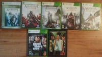 six Xbox 360 game cases New Bedford, 02740