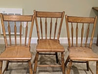 Antique Arrowback Chairs circa 1850 Faux Finish