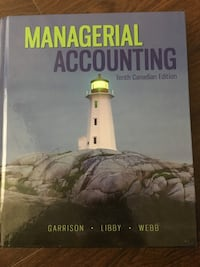 Managerial Accounting Tenth Canadian Edition like new Toronto, M2M 4L1