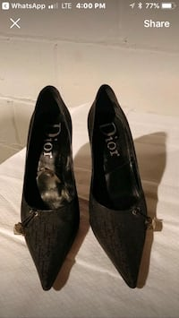 Authentic Dior Black Pointed Shoes Vaughan, L6A 3P3