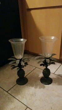 two black metal candle holders 784 mi