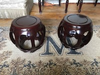 Pair of Sculptural Asian Stools/End Tables Indian Land, 29707