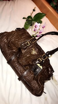 Brown real leather purse
