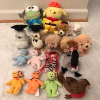 Like new stuffed animals dogs bird bears beanie babies plushes plush ty Burtonsville, 20866