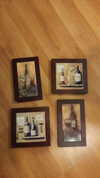 four assorted paintings with brown wooden frames Narberth, 19072