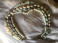 white and brown beaded necklace Reno, 89523