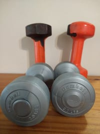 OBO Set of 2 LB Dumbbells and Set of 10 LB Dumbbells, Grayslake