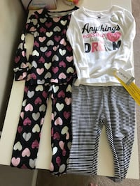 Brand new with tags size 3T toddler girls longsleeve warm pajamas clothes 756 mi