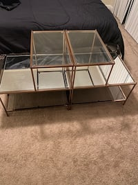 Mirror glass table