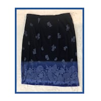 Express Beautiful Paisley Blues Skirt..Size Medium Virginia Beach, 23451