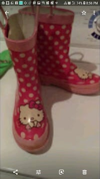 "Lil Girls ""Hello Kitty"" Rainboots Silver Spring, 20901"