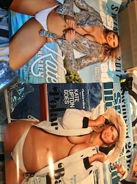 2 enlarged SI cover posters of Kate Upton swimsuit editions, 2017 one is approx 18x24, 2013 one is approx 19x25, both in mint condition